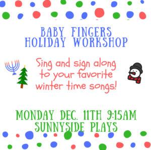 Holiday sing & sign Sunnyside